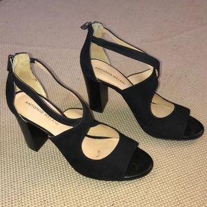 Antonio Melani suede leather heels